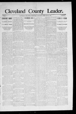 Primary view of object titled 'Cleveland County Leader. (Lexington, Okla.), Vol. 2, No. 7, Ed. 1 Saturday, February 17, 1894'.