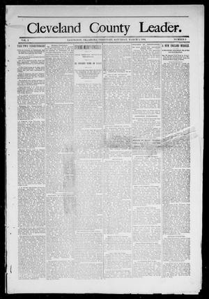 Primary view of object titled 'Cleveland County Leader. (Lexington, Okla.), Vol. 2, No. 8, Ed. 1 Saturday, February 24, 1894'.