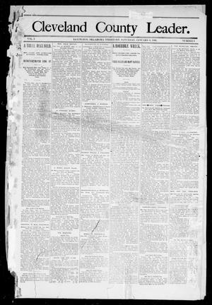 Primary view of object titled 'Cleveland County Leader. (Lexington, Okla.), Vol. 2, No. 9, Ed. 1 Saturday, March 3, 1894'.