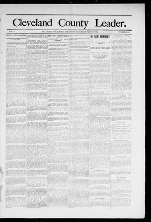 Primary view of object titled 'Cleveland County Leader. (Lexington, Okla.), Vol. 2, No. 20, Ed. 1 Saturday, May 19, 1894'.