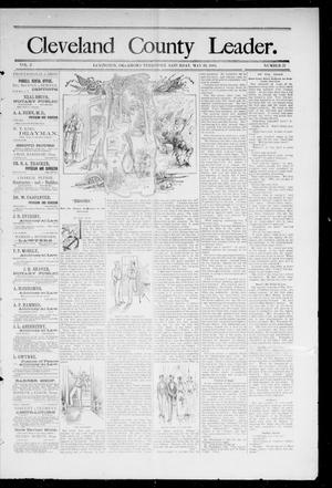 Cleveland County Leader. (Lexington, Okla.), Vol. 2, No. 21, Ed. 1 Saturday, May 26, 1894