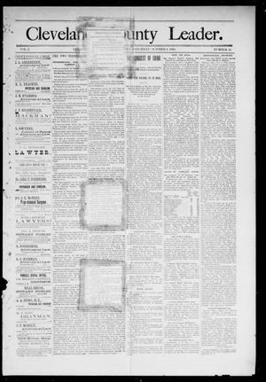 Primary view of object titled 'Cleveland County Leader. (Lexington, Okla.), Vol. 2, No. 40, Ed. 1 Saturday, October 6, 1894'.