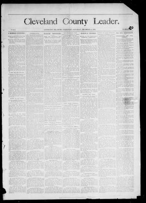 Primary view of object titled 'Cleveland County Leader. (Lexington, Okla.), Vol. 2, No. 50, Ed. 1 Saturday, December 15, 1894'.