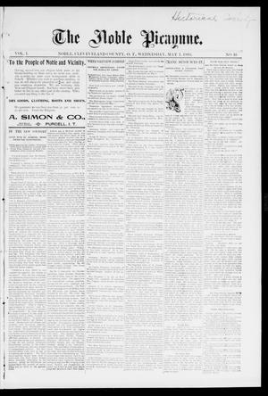 The Noble Picayune. (Noble, Okla. Terr.), Vol. 1, No. 16, Ed. 1 Wednesday, May 1, 1895