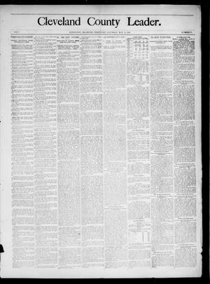 Primary view of object titled 'Cleveland County Leader. (Lexington, Okla.), Vol. 3, No. 19, Ed. 1 Saturday, May 11, 1895'.