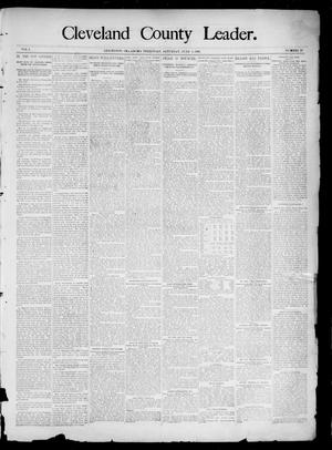 Primary view of object titled 'Cleveland County Leader. (Lexington, Okla.), Vol. 3, No. 23, Ed. 1 Saturday, June 8, 1895'.