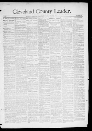 Primary view of object titled 'Cleveland County Leader. (Lexington, Okla.), Vol. 3, No. 30, Ed. 1 Saturday, July 27, 1895'.