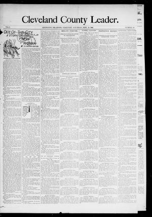 Primary view of object titled 'Cleveland County Leader. (Lexington, Okla.), Vol. 3, No. 39, Ed. 1 Saturday, September 28, 1895'.