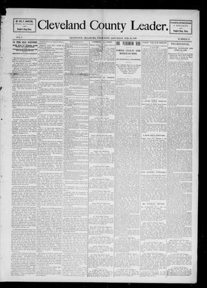 Primary view of object titled 'Cleveland County Leader. (Lexington, Okla.), Vol. 5, No. 12, Ed. 1 Saturday, February 20, 1897'.