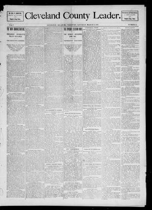 Primary view of object titled 'Cleveland County Leader. (Lexington, Okla.), Vol. 5, No. 15, Ed. 1 Saturday, March 13, 1897'.