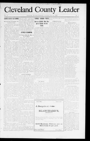 Primary view of Cleveland County Leader (Lexington, Okla. Terr.), Vol. 8, No. 38, Ed. 1 Saturday, June 17, 1899