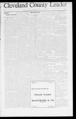Primary view of object titled 'Cleveland County Leader (Lexington, Okla. Terr.), Vol. 8, No. 42, Ed. 1 Saturday, July 15, 1899'.