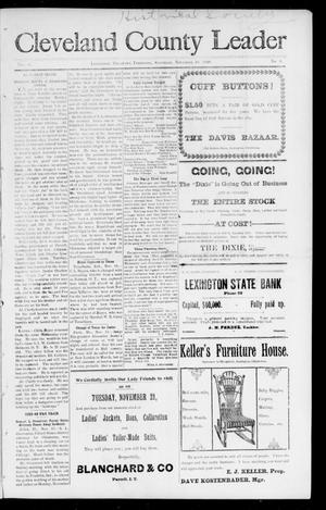 Cleveland County Leader (Lexington, Okla. Terr.), Vol. 9, No. 8, Ed. 1 Saturday, November 18, 1899