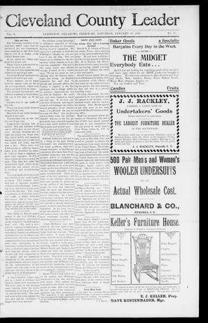 Cleveland County Leader (Lexington, Okla. Terr.), Vol. 9, No. 17, Ed. 1 Saturday, January 20, 1900