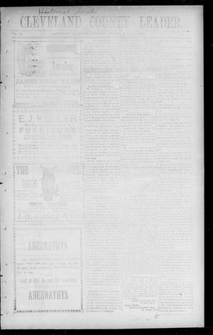 Primary view of object titled 'Cleveland County Leader. (Lexington, Okla. Terr.), Vol. 10, No. 44, Ed. 1 Friday, August 9, 1901'.