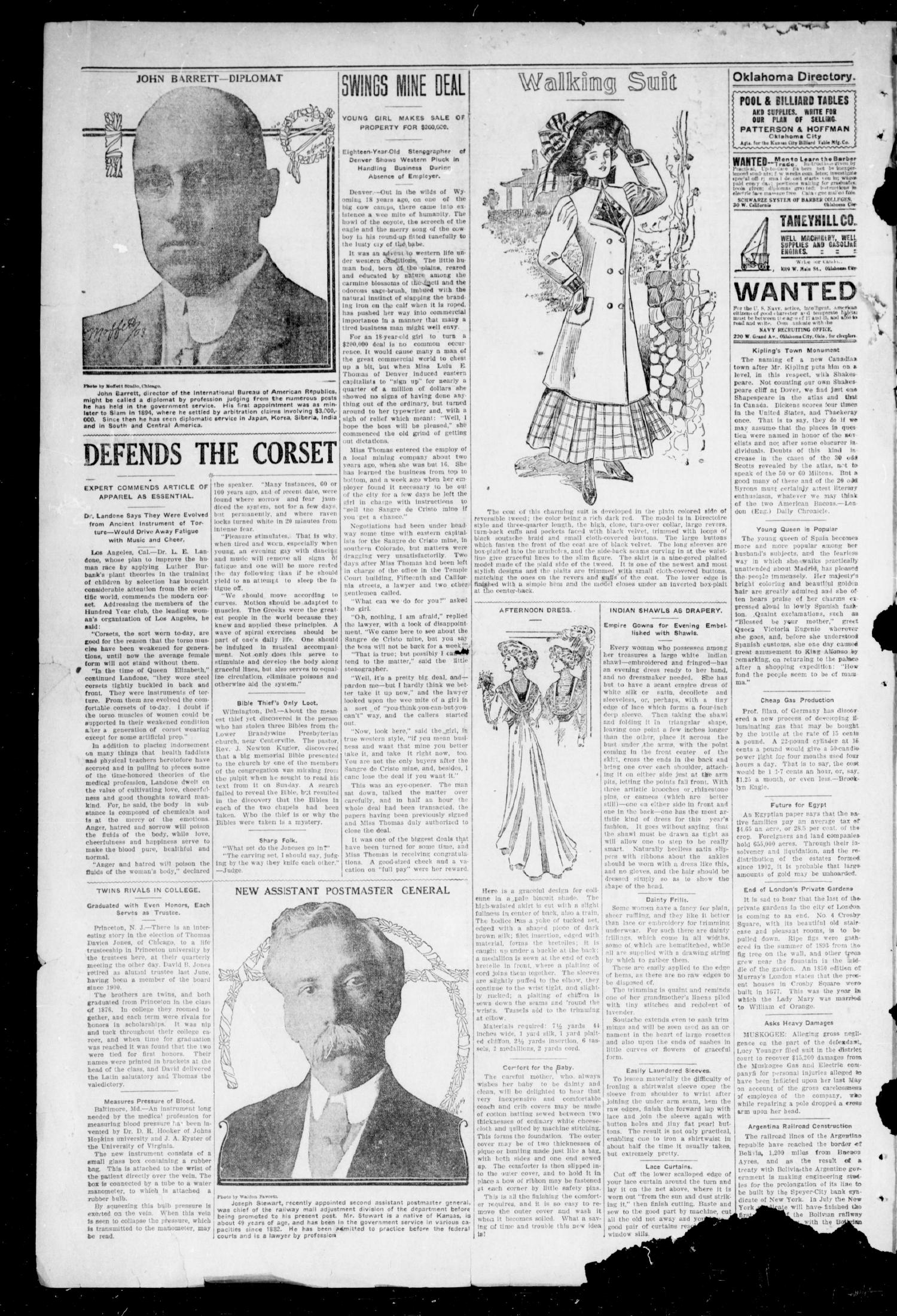 The Moore Messenger. (Moore, Okla.), Vol. 1, No. 1, Ed. 1 Saturday, November 14, 1908                                                                                                      [Sequence #]: 2 of 8