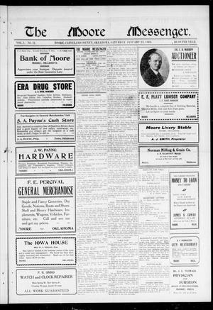 The Moore Messenger. (Moore, Okla.), Vol. 1, No. 11, Ed. 1 Saturday, January 23, 1909