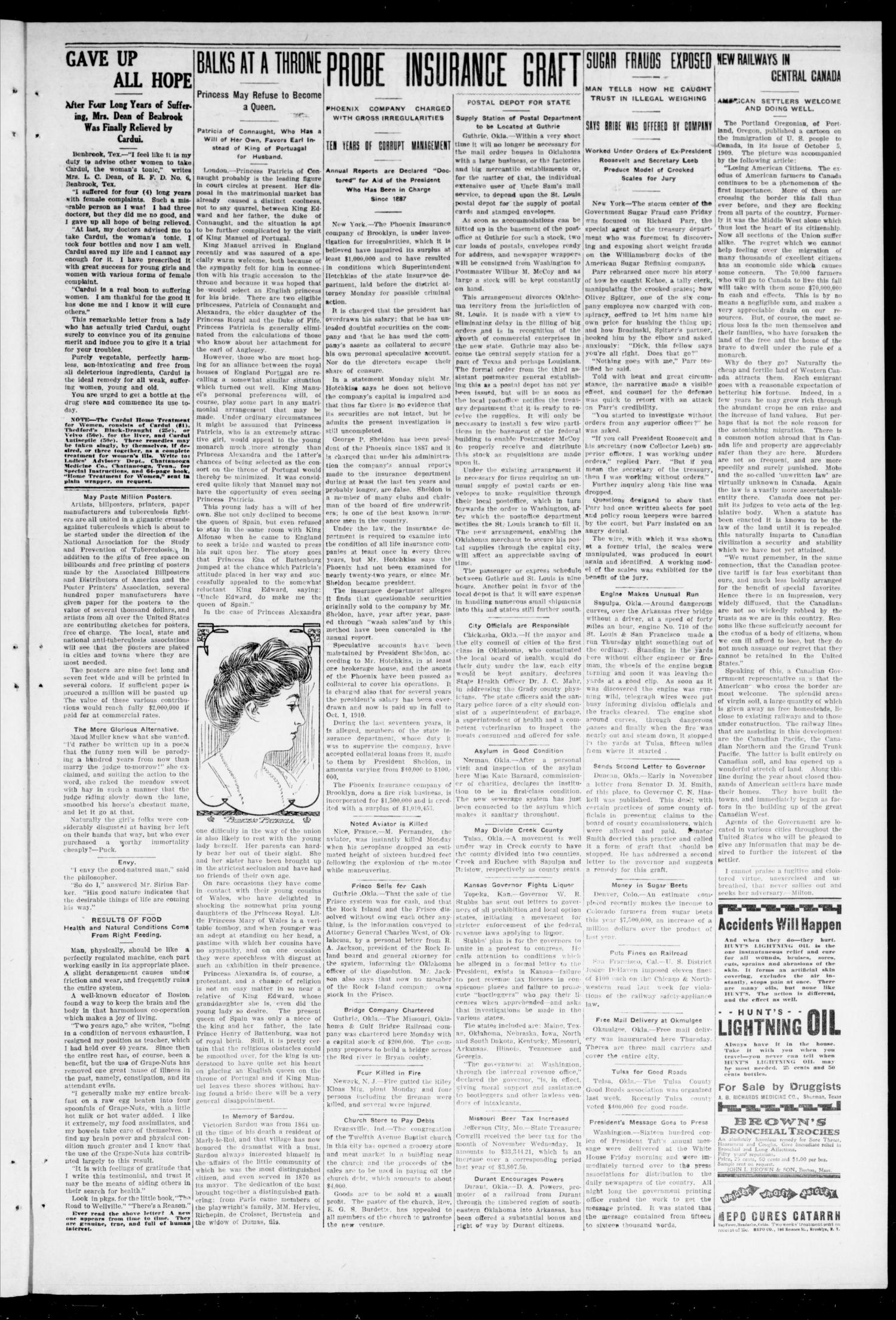 The Moore Messenger. (Moore, Okla.), Vol. 2, No. 5, Ed. 1 Saturday, December 11, 1909                                                                                                      [Sequence #]: 3 of 12