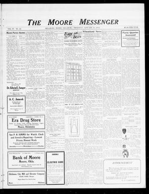 Primary view of object titled 'The Moore Messenger (Moore, Okla.), Vol. 4, No. 43, Ed. 1 Thursday, January 11, 1912'.