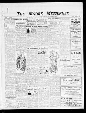 Primary view of object titled 'The Moore Messenger (Moore, Okla.), Vol. 5, No. 2, Ed. 1 Thursday, March 28, 1912'.