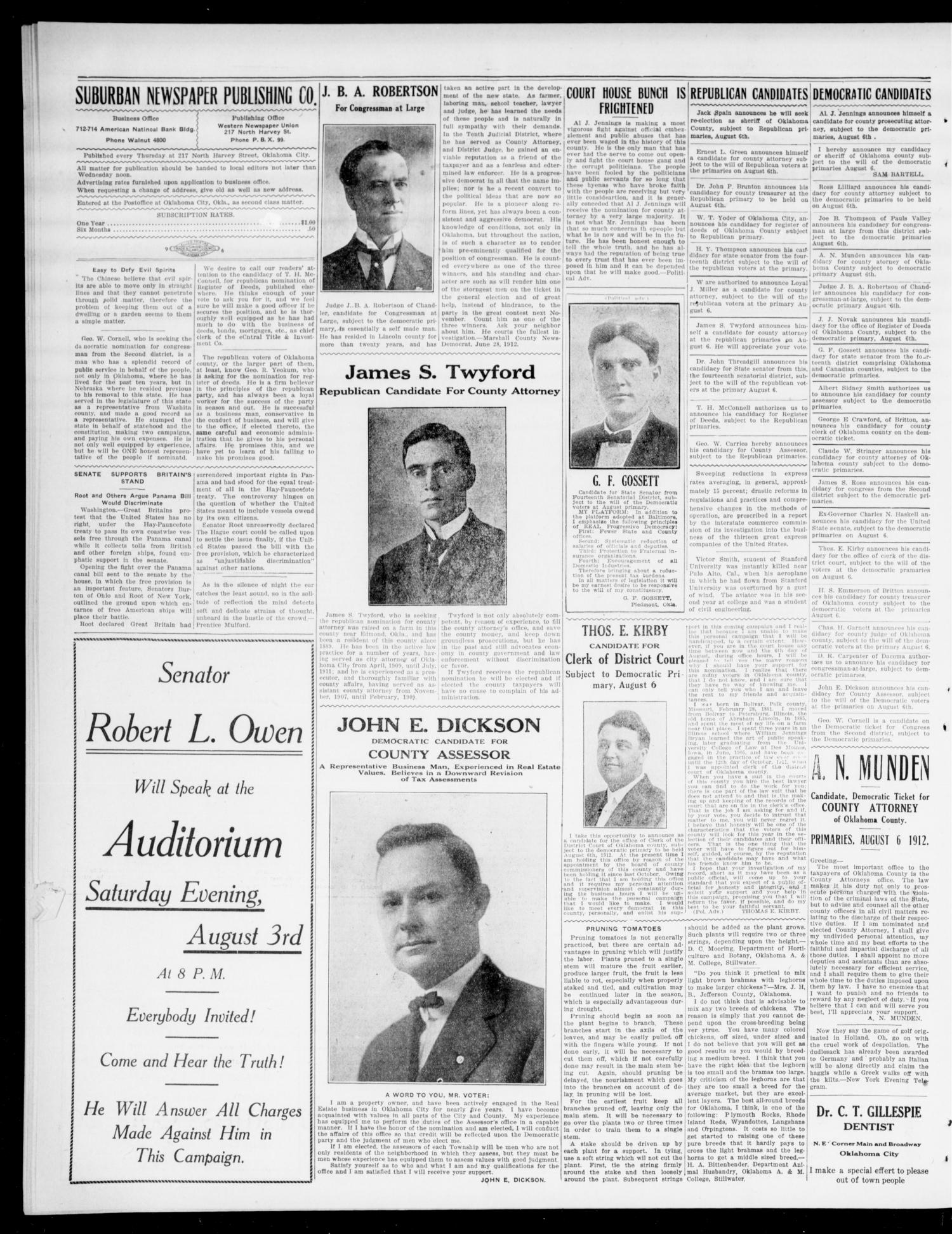The Moore Messenger (Moore, Okla.), Vol. 5, No. 19, Ed. 1 Thursday, July 25, 1912                                                                                                      [Sequence #]: 4 of 8