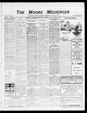 Primary view of The Moore Messenger (Moore, Okla.), Vol. 5, No. 23, Ed. 1 Thursday, August 22, 1912