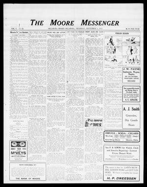 Primary view of object titled 'The Moore Messenger (Moore, Okla.), Vol. 5, No. 25, Ed. 1 Thursday, September 5, 1912'.