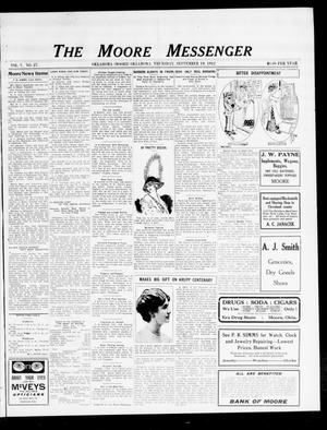 The Moore Messenger (Moore, Okla.), Vol. 5, No. 27, Ed. 1 Thursday, September 19, 1912