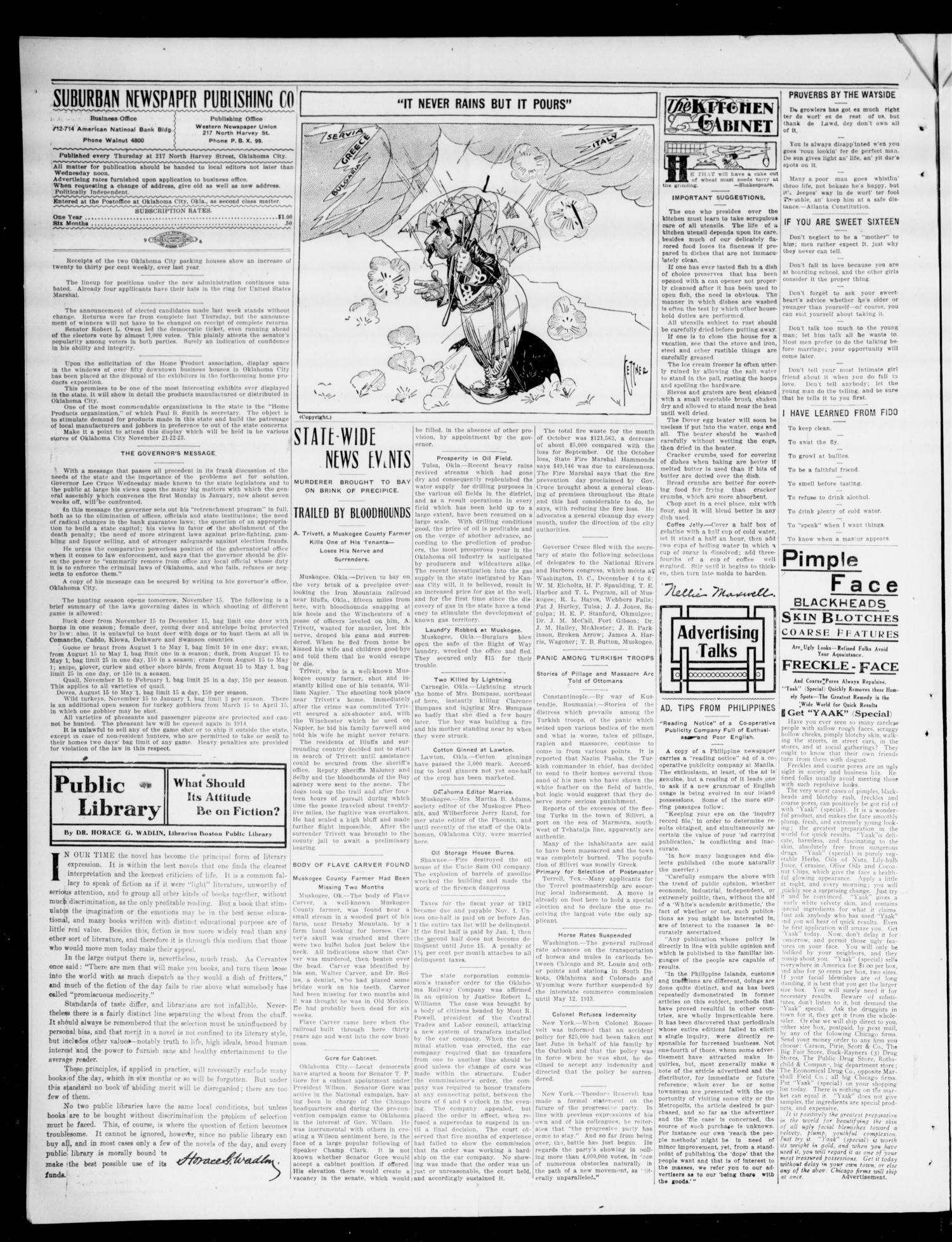 The Moore Messenger (Moore, Okla.), Vol. 5, No. 35, Ed. 1 Thursday, November 14, 1912                                                                                                      [Sequence #]: 4 of 8