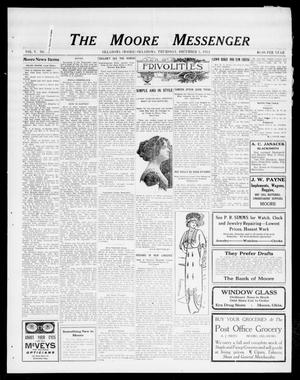 Primary view of object titled 'The Moore Messenger (Moore, Okla.), Vol. 5, No. 38, Ed. 1 Thursday, December 5, 1912'.
