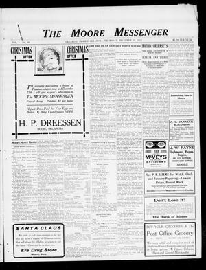Primary view of object titled 'The Moore Messenger (Moore, Okla.), Vol. 5, No. 40, Ed. 1 Thursday, December 19, 1912'.