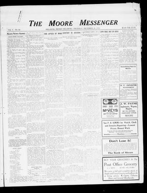 Primary view of object titled 'The Moore Messenger (Moore, Okla.), Vol. 5, No. 41, Ed. 1 Thursday, December 26, 1912'.