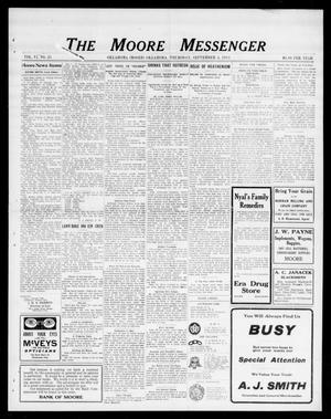 Primary view of object titled 'The Moore Messenger (Moore, Okla.), Vol. 6, No. 25, Ed. 1 Thursday, September 4, 1913'.