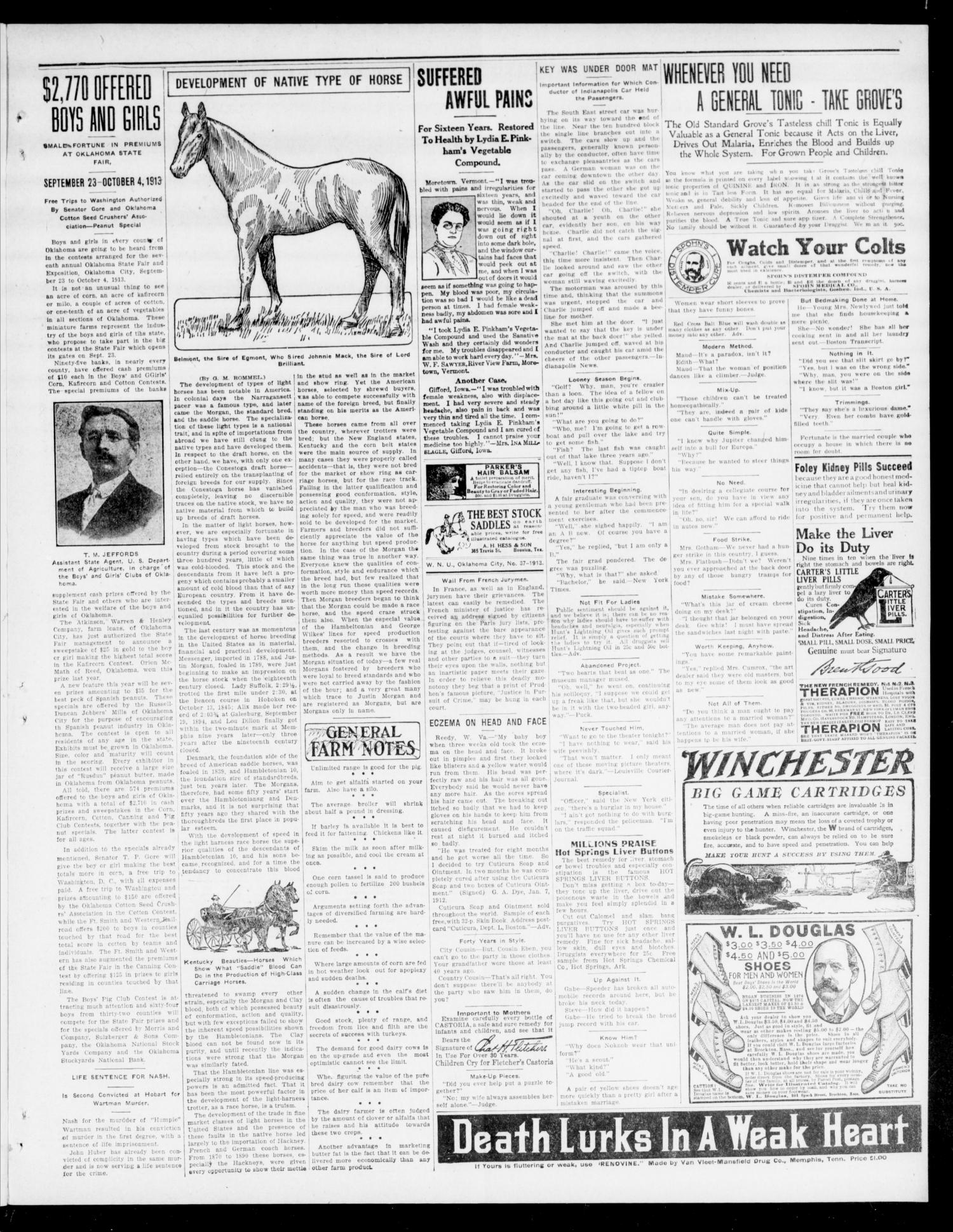 The Moore Messenger (Moore, Okla.), Vol. 6, No. 26, Ed. 1 Thursday, September 11, 1913                                                                                                      [Sequence #]: 7 of 10