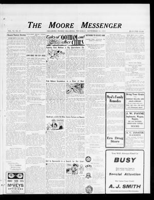 Primary view of object titled 'The Moore Messenger (Moore, Okla.), Vol. 6, No. 27, Ed. 1 Thursday, September 18, 1913'.