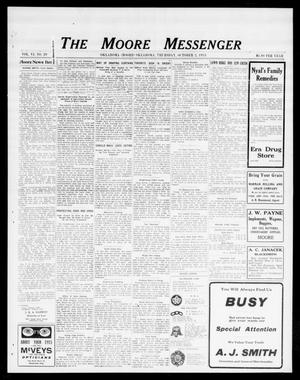 Primary view of object titled 'The Moore Messenger (Moore, Okla.), Vol. 6, No. 29, Ed. 1 Thursday, October 2, 1913'.