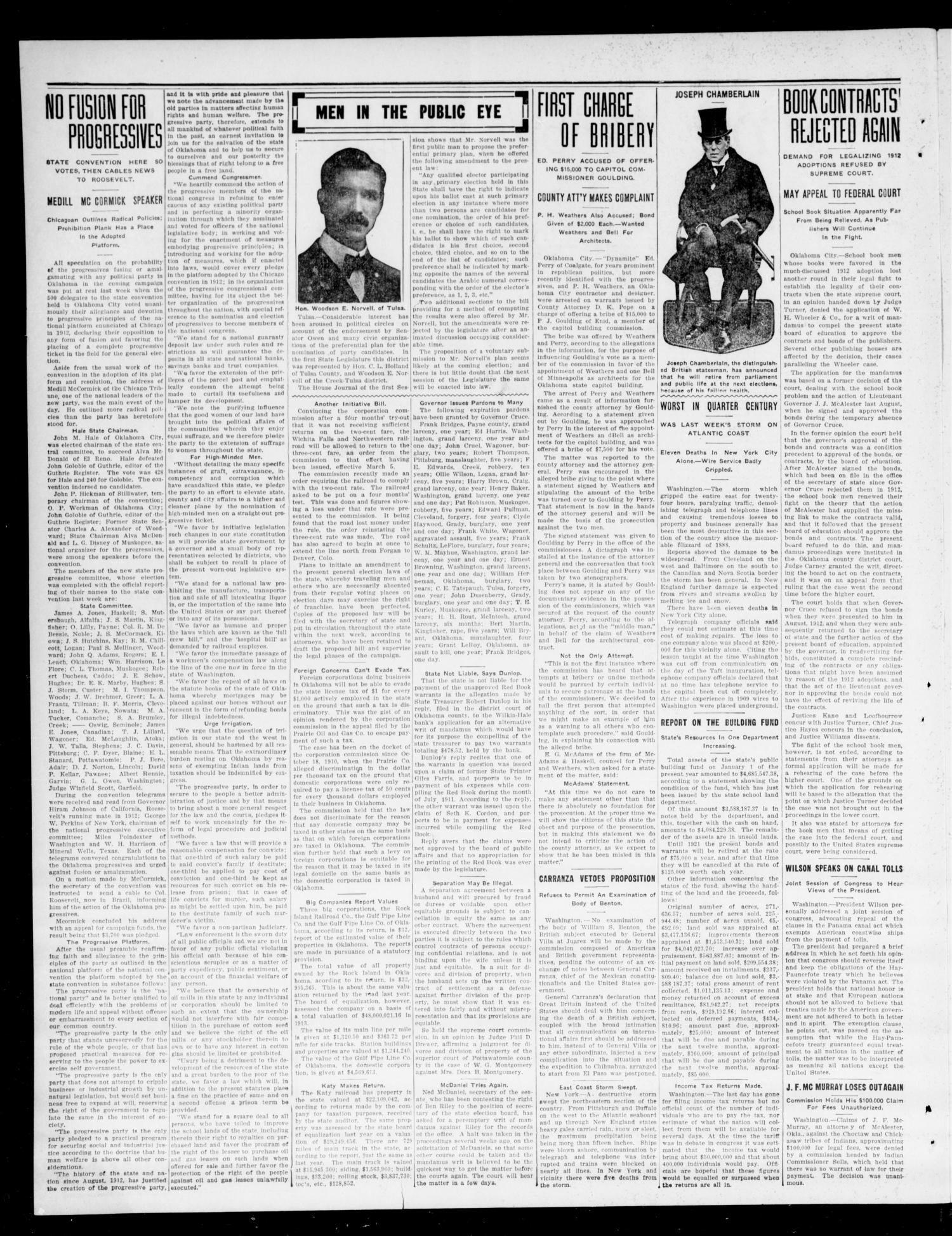 The Moore Messenger (Moore, Okla.), Vol. 6, No. 51, Ed. 1 Thursday, March 5, 1914                                                                                                      [Sequence #]: 2 of 8