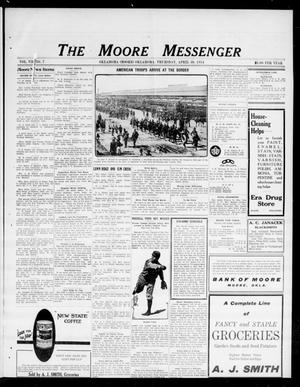Primary view of object titled 'The Moore Messenger (Moore, Okla.), Vol. 7, No. 7, Ed. 1 Thursday, April 30, 1914'.