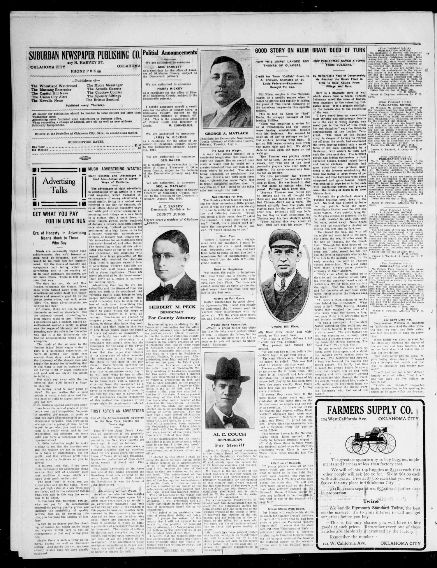 The Moore Messenger (Moore, Okla.), Vol. 7, No. 9, Ed. 1 Thursday, May 14, 1914                                                                                                      [Sequence #]: 4 of 8