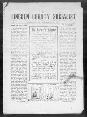 Primary view of object titled 'The Lincoln County Socialist (Davenport, Okla.), Vol. 1, No. 7, Ed. 1 Saturday, January 16, 1915'.
