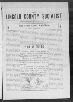 Primary view of object titled 'The Lincoln County Socialist (Davenport, Okla.), Vol. 1, No. 9, Ed. 1 Saturday, January 30, 1915'.