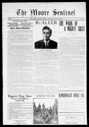 Primary view of object titled 'The Moore Sentinel (Oklahoma [Moore], Okla.), Vol. 1, No. 18, Ed. 1 Saturday, June 24, 1916'.
