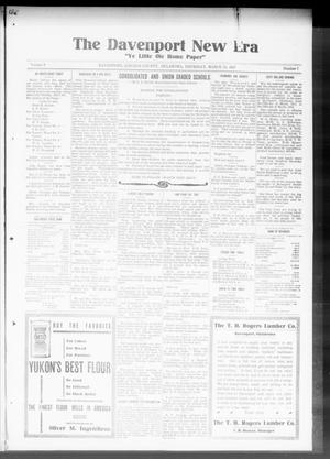 The Davenport New Era (Davenport, Okla.), Vol. 9, No. 7, Ed. 1 Thursday, March 29, 1917