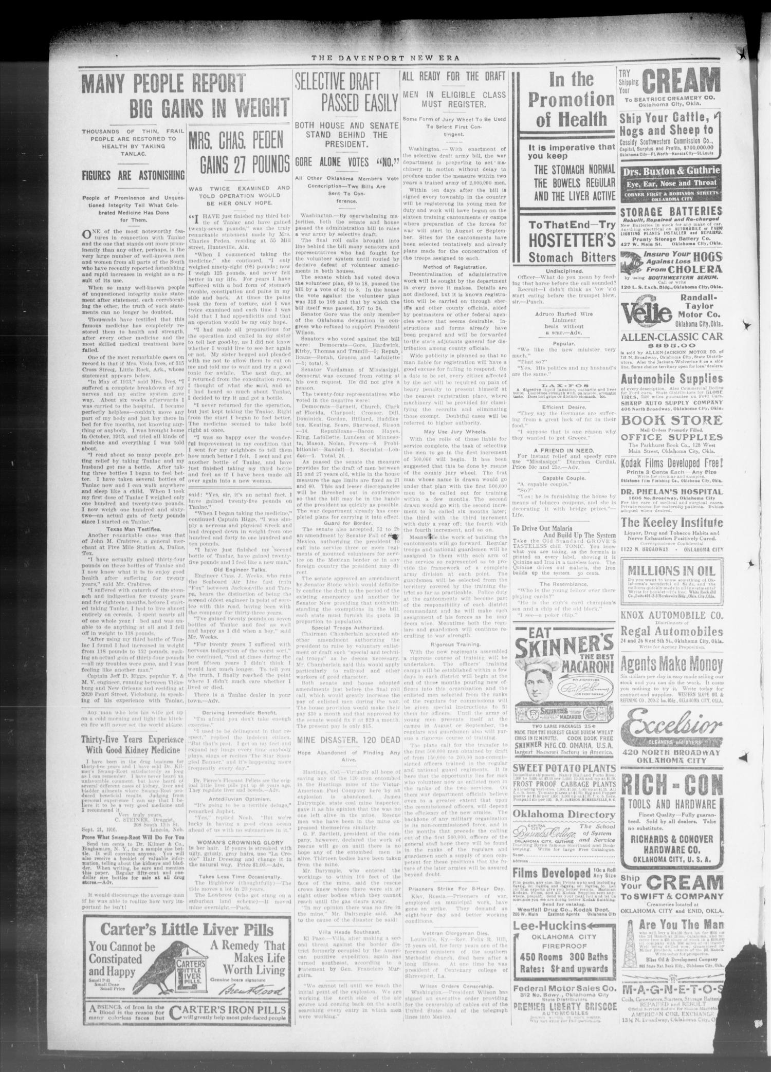 The Davenport New Era (Davenport, Okla.), Vol. 9, No. 12, Ed. 1 Thursday, May 3, 1917                                                                                                      [Sequence #]: 2 of 6