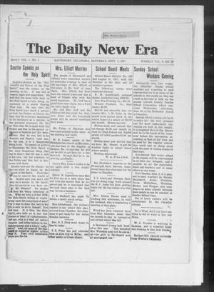 Primary view of object titled 'The Daily New Era (Davenport, Okla.), Vol. 1, No. 1, Ed. 1 Saturday, September 1, 1917'.