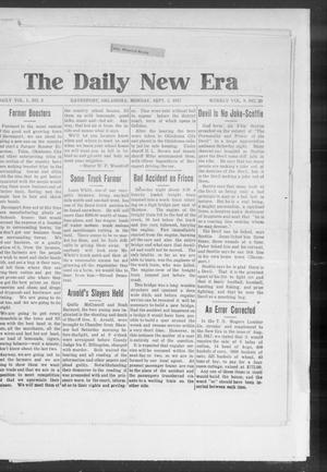 Primary view of object titled 'The Daily New Era (Davenport, Okla.), Vol. 1, No. 2, Ed. 1 Monday, September 3, 1917'.