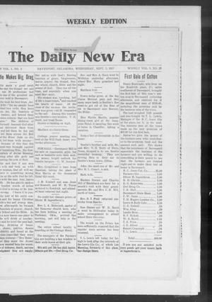 Primary view of object titled 'The Daily New Era (Davenport, Okla.), Vol. 1, No. 4, Ed. 1 Wednesday, September 5, 1917'.