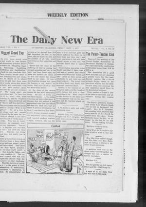 Primary view of object titled 'The Daily New Era (Davenport, Okla.), Vol. 1, No. 6, Ed. 1 Friday, September 7, 1917'.