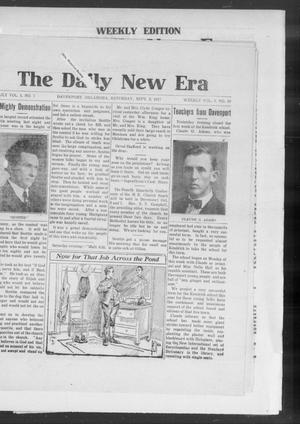 Primary view of object titled 'The Daily New Era (Davenport, Okla.), Vol. 1, No. 7, Ed. 1 Saturday, September 8, 1917'.
