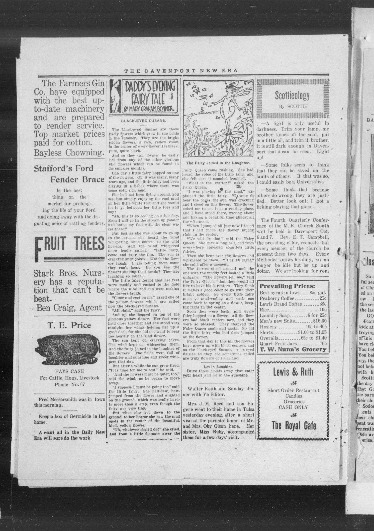 The Daily New Era (Davenport, Okla.), Vol. 1, No. 8, Ed. 1 Monday, September 10, 1917                                                                                                      [Sequence #]: 4 of 4